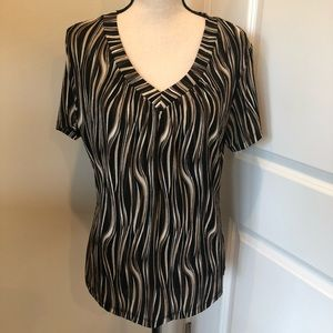 JM Collection Short Sleeved striped top
